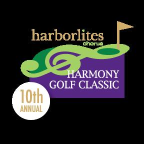 Harborlites Harmony Golf Classic 10th Anniversary Logo